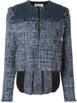 Sonia Rykiel woven cropped jacket - women - Silk/Cotton/Linen/Flax/Polyamide - 36