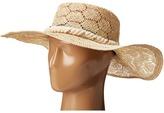 San Diego Hat Company SPS1001 Sisal Quilt Stitch Floppy Hat
