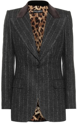 Dolce & Gabbana Pinstriped single-breasted blazer