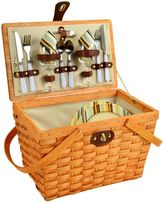 Picnic at Ascot Full Equipped Frisco Picnic Basket for 2 in Honey