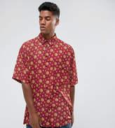 Reclaimed Vintage Inspired Oversized Shirt In Sun Print