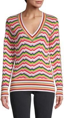 Trina Turk Take Off Chevron Cotton Sweater