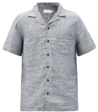 Onia Vacation Polka-dot Linen Shirt - Grey