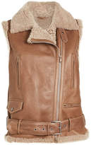 Brunello Cucinelli Leather and Shearling Vest