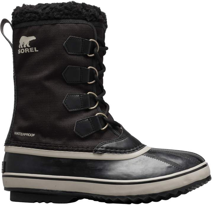Sorel Faux Shearling-Trim Waterproof Nylon Snow Boots