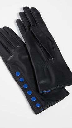 Agnelle Aileen Snap Detail Gloves