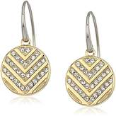 Fossil Chevron Glitz Drop Earrings