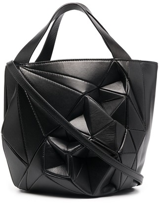 Calicanto Structured Geometric Bucket Bag
