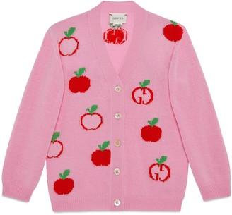 Gucci Children's GG apple wool cardigan