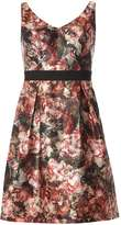 Dorothy Perkins Black Floral Satin Prom Dress