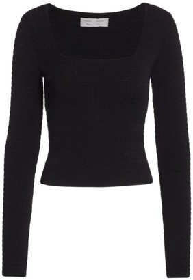 Proenza Schouler White Label Quilted Squareneck Knit Top