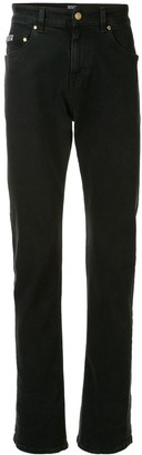 Versace Rear Baroque Print Straight-Leg Jeans