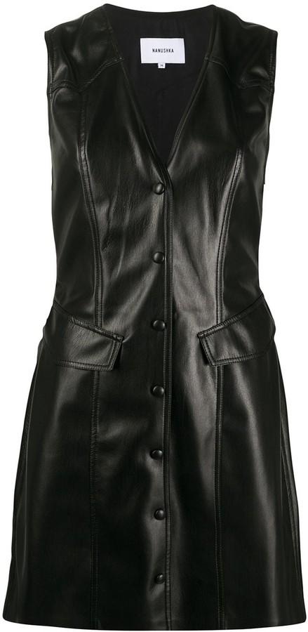 Nanushka Menphi leather look dress