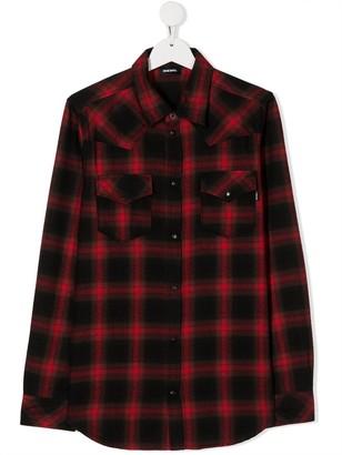 Diesel TEEN plaid shirt