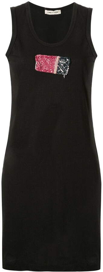 Comme des Garcons Pre-Owned woven patch tank dress
