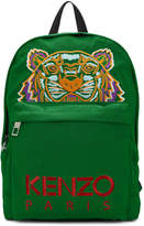 Kenzo Green Tiger Logo Backpack