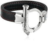 King Baby Studio Leather with Silver Shackle Clasp Bracelet