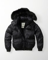 Abercrombie & Fitch Women's Jacket with Removable Fur Hood (extra large)