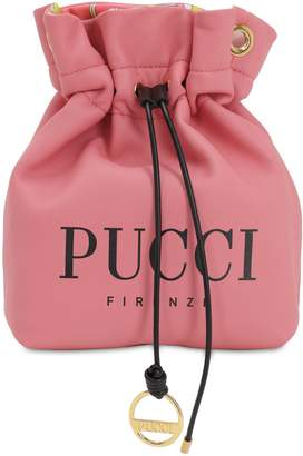 Emilio Pucci Logo Printed Leather Pouch