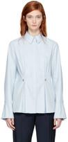 Carven Blue Studded Peplum Shirt