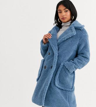 Glamorous Petite longline teddy jacket