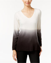 NY Collection High-Low Ombre Sweater