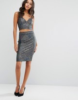Lipsy Metallic Co-Ord Midi Skirt