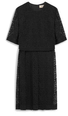 Mulberry Meghan Dress Black Scallop Lace