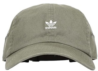 adidas Originals Mini Logo Relaxed Cap (Legacy Green/White) Caps