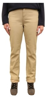 Mountain And Isles Women's Canvas Fleece Lined 5 Pocket Pant