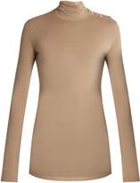 Balmain Long-sleeved wool-jersey top
