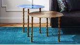 CB2 2-Piece Bronze And Atol Bamboo Bunching Side Table Set
