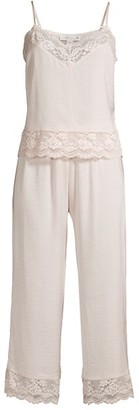 In Bloom Moonlight 2-Piece Lace Trim Camisole & Pants Pajama Set