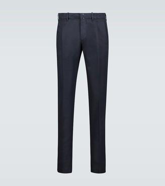 Incotex Cotton linen-blend slim-fit pants