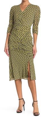 Diane von Furstenberg Becca Geometric Print Dress