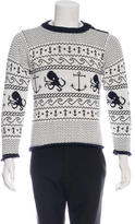 Thom Browne Maritime Intarsia Knit Sweater