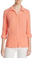 Three Dots Lynn Crinkled Gauze Shirt