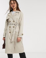 Only trench coat with check lining in beige