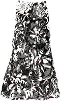 Carolina Herrera Printed Embellished Skirt