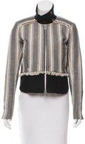 Veronica Beard Textured Zip-Up Jacket