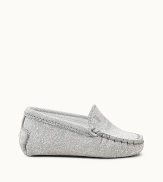 Tod's Junior Gommino Driving Shoes in Glitter