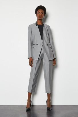 Karen Millen Luxe Silk Stretch Blend Tailored Jacket