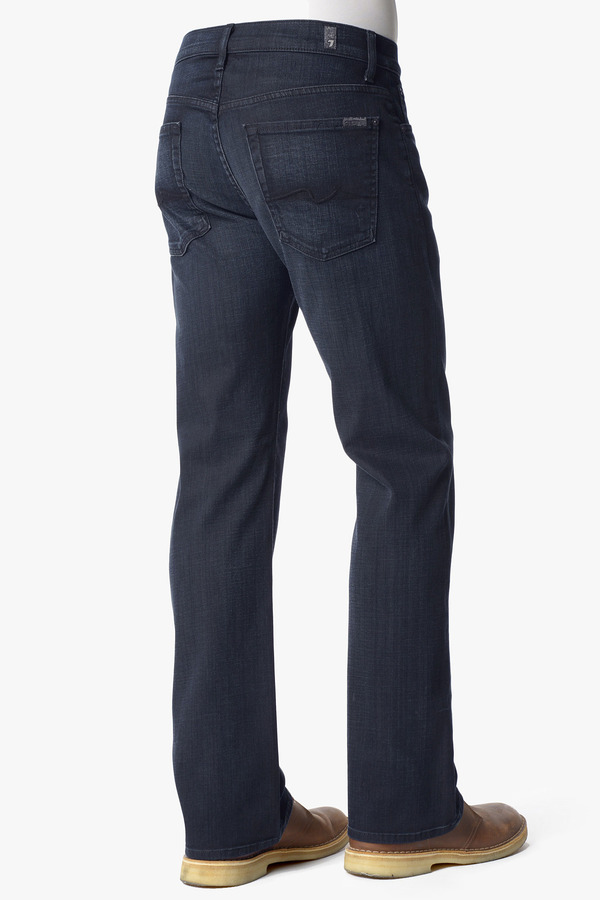 7 For All Mankind Austyn Relaxed Straight Leg In Black Surface