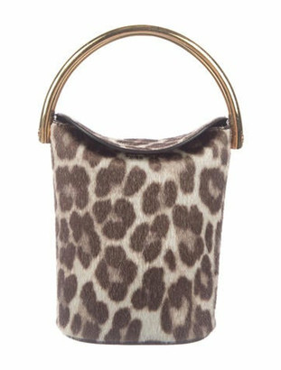 Stella McCartney Faux Fur Bucket Bag Brown