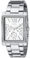 GUESS Women's U0446L1 Stunning Retro Silver-Tone Multi-Function Watch