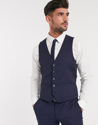 Moss Bros suit vest jacket in navy