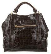 Miu Miu Embossed Patent Leather Tote