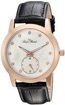 Swiss Legend Women's 'Noureddine' Quartz Stainless Steel and Black Leather Casual Watch (Model: LP-40037-RG-02MOP)
