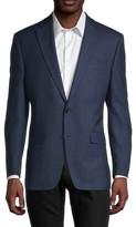 Regular-Fit Check Wool-Blend Jacket