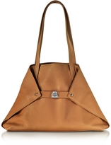 Akris Ai Small Cuoio Leather Tote Bag